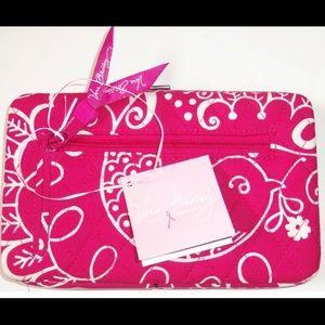 Vera Bradley Zip-Around Wallet Twirly Birds Pink